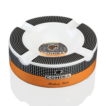 COHIBA Cigar Ashtray Ceramic Classic Cigarette Ash Tray with 4 Cigars Rest(China)