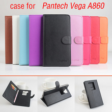 Lychee Fashion Luxury for Pantech Vega A860 Case,Flip Leather Case Cover For Pantech Sky Vega A 860 With Stand Card Slots