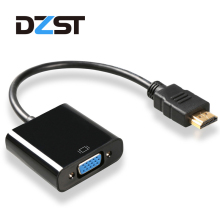 DZLST HDMI to VGA Converter Adapter Male to Female 3.5mm Audio optional for PC Computer Laptop Desktop to HDTV Monitor Display