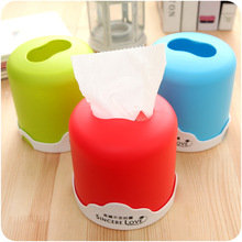 Modern Round Toilet Tissue Box Waterproof Plastic Paper Napkin Holder Large Cartons Towel Rack Broader Tissue holder Gadgets