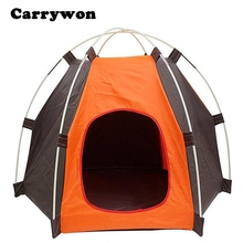 Carrywon Folding Kennel Oxford Waterproof Tent Dog House Sunshade Outdoor Camping Home Travel House Pet Nest Shelter Tent