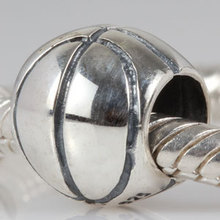 New DIY Sport Basketball Charms Original 100% Authentic 925 Sterling Silver Beads fit for Pandora bracelets & Necklaces