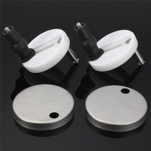 Protable Size 2PCS/lot ABS Silvery Top Fixed Toilet Lid Seat Covers+Hinge Fixing Fast Apart
