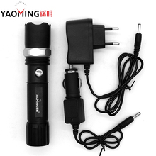 High power led linternas cree q5 3 modes 5w waterproof rechargeable zoomable police flashlight torch lamp by 18650 or 3*AAA