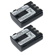 2Pcs/lot NB-2L NB 2L NB2L NB-2LH BP-2L5 1100mAh Rechargeable Li-ion Battery for CANON camera 350D 400D G7 G9 S30 S40 z1