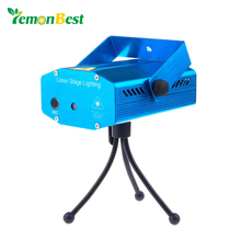 LemonBest Mini DJ Club Disco Projector music Stage Laser Light all star Music Control Function black blue color