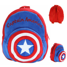 Kawaii Captain America Plush Backpack Cartoon Kids Tablet Shoulder Backpack School Bag Kids Toys Birthday Christmas Gift(China)