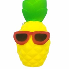 Rising Bun Slow Squeeze Squishy Charms Cute Soft Bread Chain Mini Phone Straps Kids Toy Cool Pineapple Pendant(China)