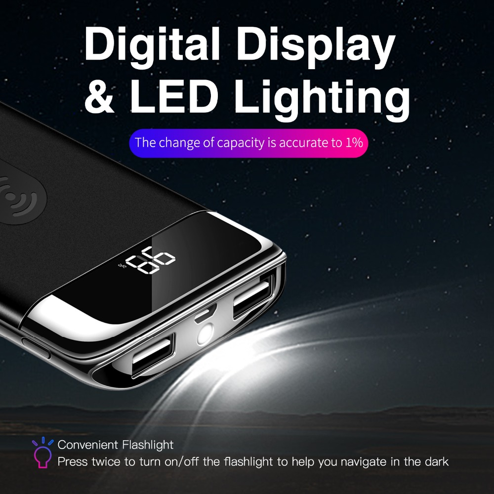 Digital iPhone Wireless Power Bank