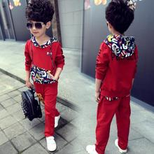 2017 New Children Boys Clothing Sets Toddler Kids Clothes Outfit Sport Costume Tracksuit Uniform Suits Sweatshirts + Pants 13 14