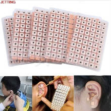 JETTING-600 Pcs/lot Relaxation Ears Stickers Acupuncture Needle Ear Vaccaria Seeds Ear Massage Auricular-paster Press Seeds(China)