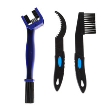 3 in 1 Motocycle Bicycle Chain Cleaning Brush Set Mountain Bicycle Gear Cleaner Scrubber Cycling Tool EA14(China)