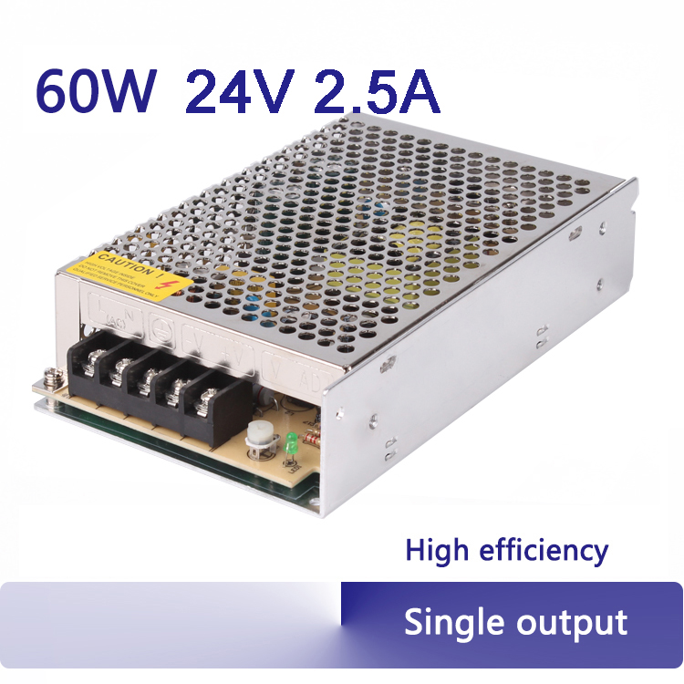 60W 2.5A 24V regulated amplifier switching power supply 110V 220V ac-dc step down high quality S-60-24<br><br>Aliexpress