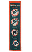 Miami Dolphins Baseball Team San Francisco Giants Rectangle Heritage Flags Banners With String Felt Pennats 20*81cm