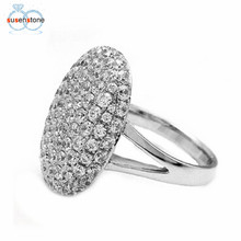 SUSENSTONE 2017 Women Wedding Engagement Ring Crystal Jewelry Size 6-11 Rings