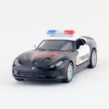 Children Kinsmart Dodge 2013 SRT Viper GTS Police Model Car 1:36 KT5363P 5inch Diecast Metal Alloy Cars Toy Pull Back Gift