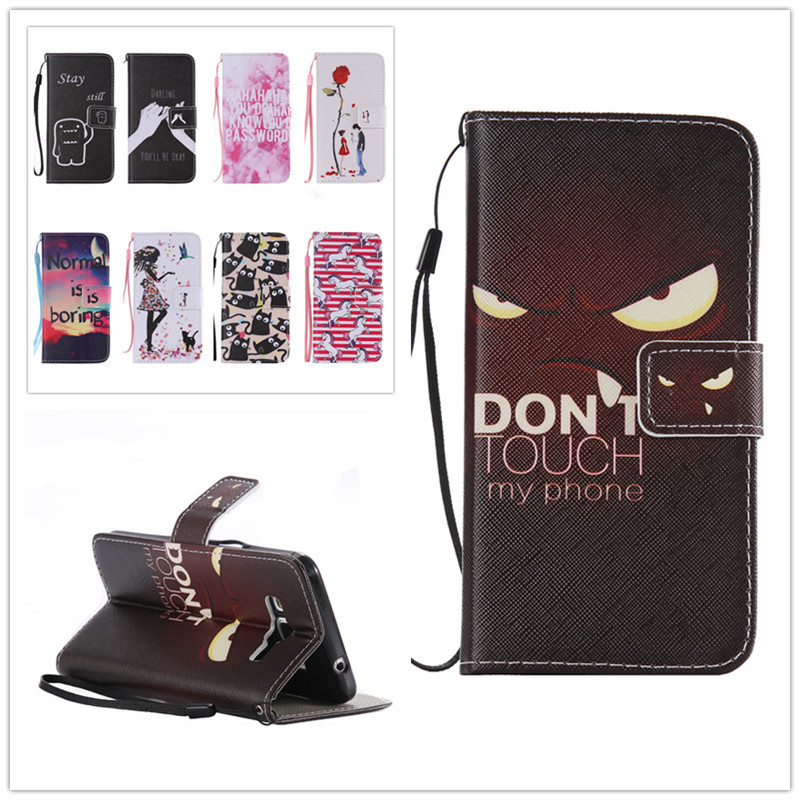 Flip Painted PU Leather Phone Cover For font b Samsung b font Galaxy Grand Prime G530