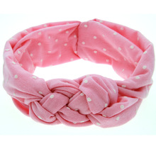 TINSAI Hair Bows Wave point Chinese knot headband American popular stretch cotton tire 5 colors optional headband