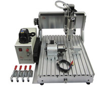 CNC 3040 Z-VFD 800W 4-Axis 3D milling router wood CNC engraving machine(China)