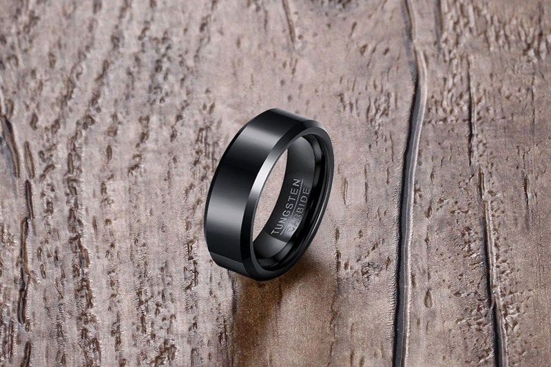 Meaeguet 6MM Wide Rock Men Rings Jewelry Pure Tungsten Carbide Engagement Wedding Rings for Men Rings Jewelry (7)