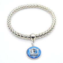 2017 New Basketball Charm Dallas Bracelets&Bangle for Women Super Bowl Fans Jewelry