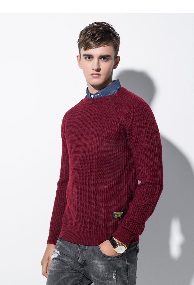 3Color Winter Men Pullover Sweaters Warm Thick Sweater Men Autumn Knited Male Pullover Jumper Navy Red Khaki Brand Muls M-4XL-04