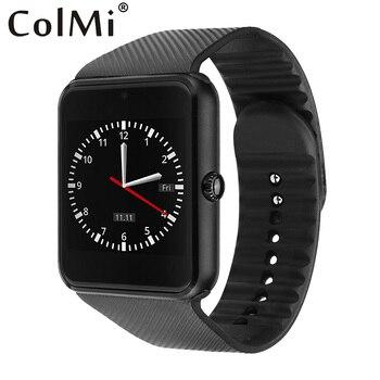 Colmi smart watch gt08 reloj con ranura para tarjeta sim empuje mensaje conectividad bluetooth teléfono android smartwatch gt08