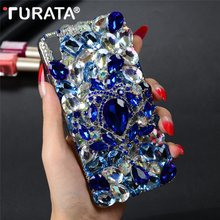 "Buy Luxury 3D Handmade Bling Glitter Diamond Phone Case Huawei Y6 / Y6 Scale / Honor 4A 5.0"" Hard Clear Crystal Back Cover Funda for $4.06 in AliExpress store"