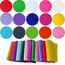 15 Pieces 30cm*30cm Handicraft Felt Fabric Crafting 1mm thick Sewing Glue Scrapbooking DIY