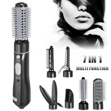 7 In 1 Hair Roller Professional Hairdryer Air Brush Styler Machine With Comb Nozzles Hair Dryer Blow Curler Multifunctional 2017