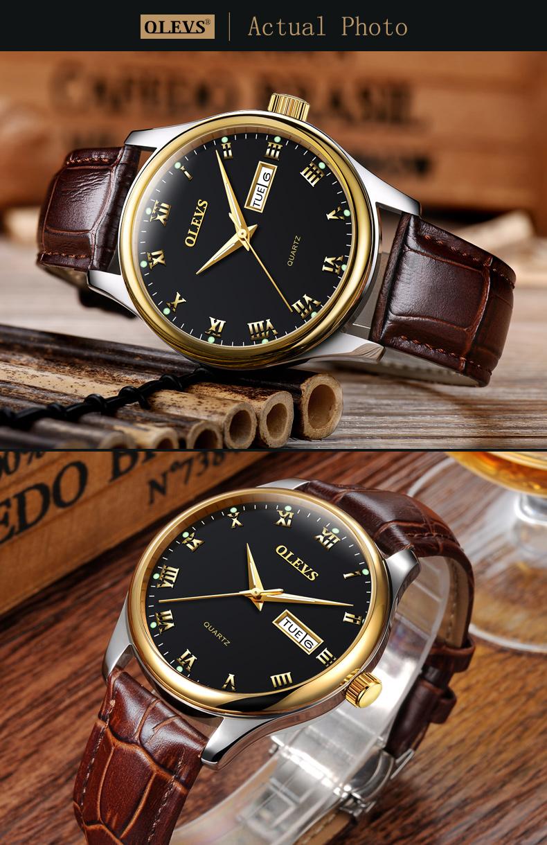 HTB12vmIi.F7MKJjSZFLq6AMBVXaH - OLEVS Luxury Men Gold Watches High Quality Watch Men's Quartz Date Clock Male Week Display Wristwatch Steel relogio masculino