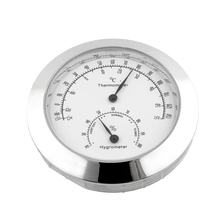 Alloy Guitar Violin Hygrometer Moisture Meter Temperature And Humidity Meter Thermometer Silver Portable