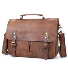 2017 Genuine Leather Handbag Men's briefcase Bag High Capacity Business Messenger Handbags Men Bags Leather Satchel Briefcase Ma