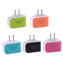 Universal US EU Plug 3.1A AC Triple 3 USB Port Wall Home Travel Charger Adapter for iPhone Samsung ipad All CellPhone Charging
