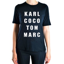 2017 summer hot sale Karl Coco Tom Marc letters print cotton t shirt women harajuku brand tops tees kawaii hipster women t-shirt