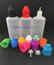 50pcs New Style 120ml Empty Needle Bottle PE Plastic Dropper Bottles With Childproof Cap E Liquid Bottle(China)