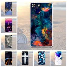 Fundas Phone Bags Case Cover for Sony Xperia M5 E5603 E5606 E5653 Soft TPU Animal Owl Dog Scenery Printed Case for Xperia M5