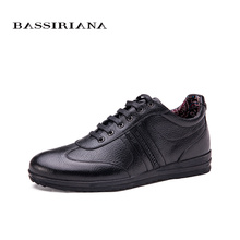 BASSIRIANA 2016 Men Leather Shoes  Fashion Flats For Man Business Oxfords Dress Shoes Mens Footwear Casual Shoes Size 39-45