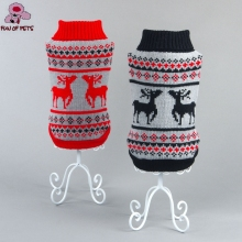 2017 New Autumn & Winter Classic Red/Black Christmas Milu Pattern Winter Dogs Sweater for Dogs Clothing(China)