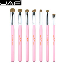 Retail JAF 7pcs Eye Brushes Set Pink Makeup Brush Kit Natural Eye Shadow Brushes  Blending Pencil  Kit JE07PY