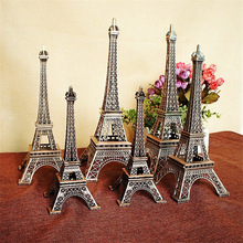 Hot! Vintage Red Copper Paris Eiffel Tower Statue Metal Model Home Ornament Craft Furnishing Travel Souvenir Presents for Friend(China)