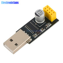 CH340 USB to ESP8266 ESP-01 Wifi Module Adapter Computer Phone Wireless Communication Microcontroller for Arduino
