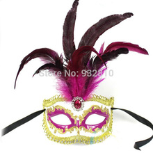 Hyperbolic Italian Style Carnival Masks Feather Masks Halloween Costumes Accessories 10PCS/LOT LP071