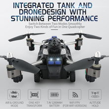 JJRC H40WH Wireless FPV Drone with Camera 200W RC Tank 2.4G 4CH 6Aixs Folding Gyro Air And Ground Mode Atitude Hold F21720(China)