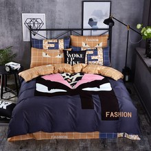 Black and White fashion brand cool bedding sets duvet covers  cover striped plaid bedspreads twin queen size bed sheets