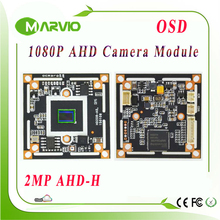 1080P 2.0MP (Million Pixel) AHD Full HD Analogy CCTV camera module board DIY your own security surveillance system free shipping(China)
