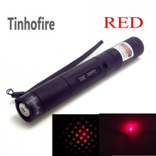 Tinhofire Top Laser 303 200mW Red Laser Pointer Adjustable Focal Length and Star Pattern Filter