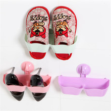 Bathroom Shoes Organizers Shelf Suction Wall Saving Type Shoes Rack Household Bathroom Accessories(China)