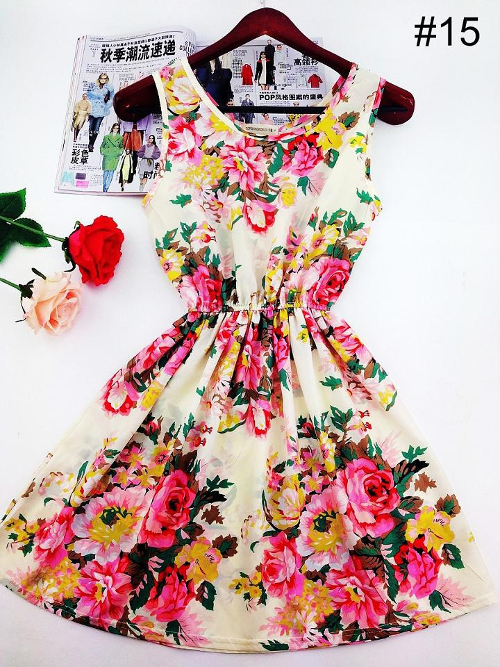 Летние платья в цветок