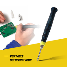 5V 8W Mini Portable USB Electric Powered Soldering Iron Pen Tip with Touch Switch Protective Cap